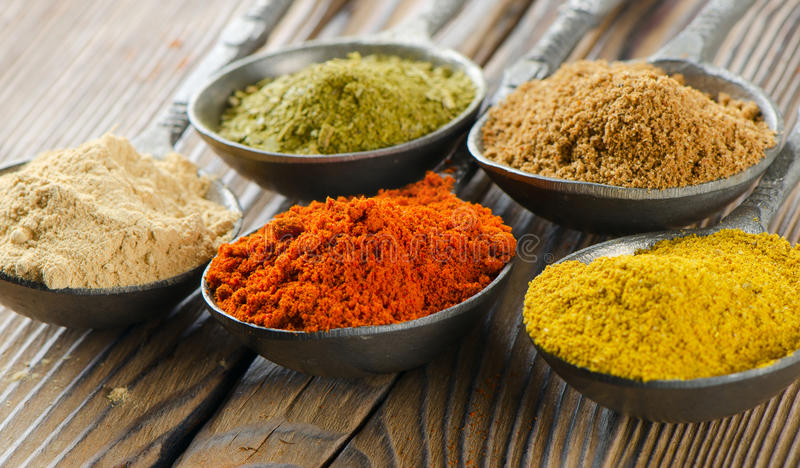 Powder Spices Stock Photography