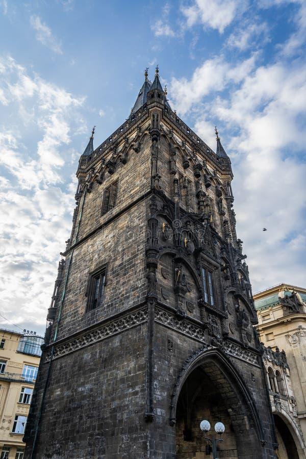 Powder Tower of Prague in Czech Republic. Powder Tower of Prague in Czech Republic royalty free stock photos