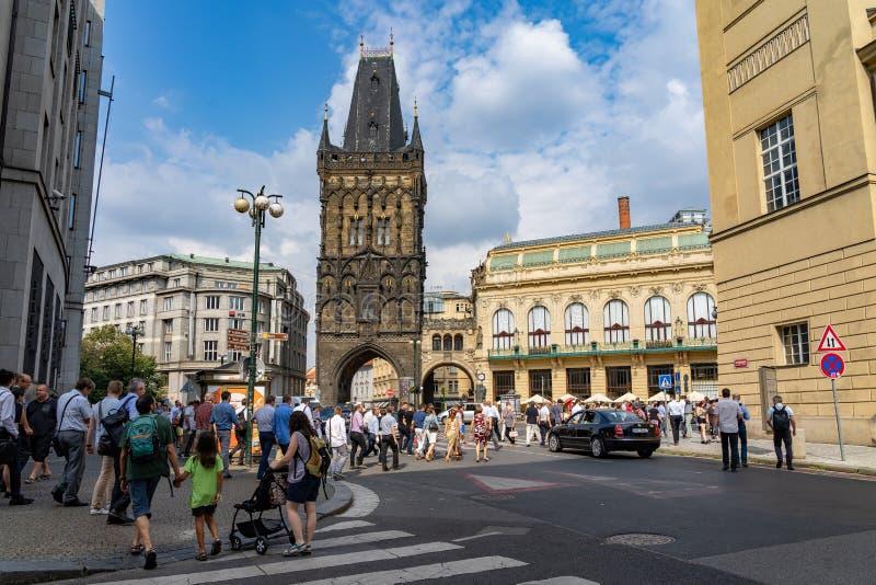 Powder Tower of Prague in Czech Republic. Powder Tower of Prague in Czech Republic royalty free stock image