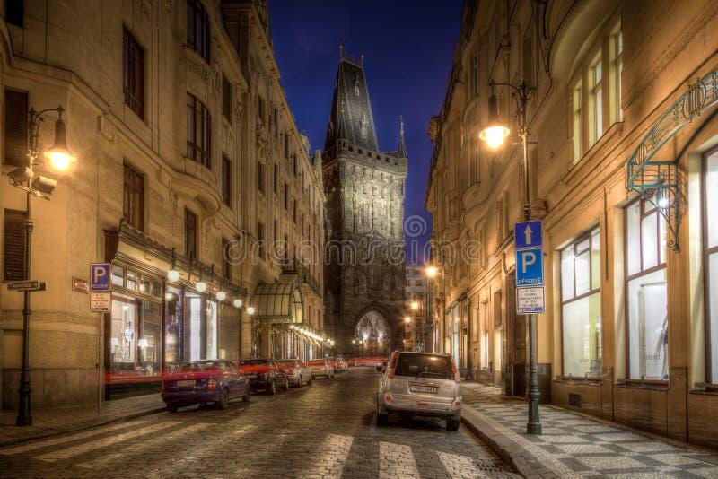 The Powder Towr in Prague stock image