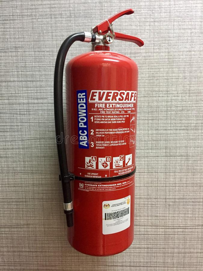 Powder type fire extinguisher royalty free stock photos