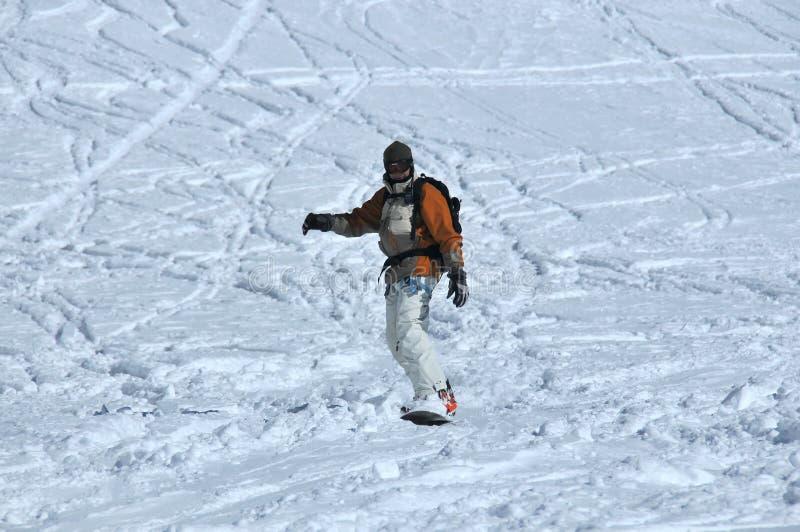 powder walkie för snowsnowboardertalkien royaltyfri fotografi