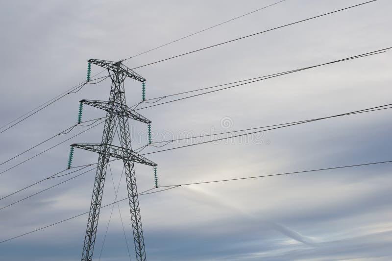 Powe line mast stock image