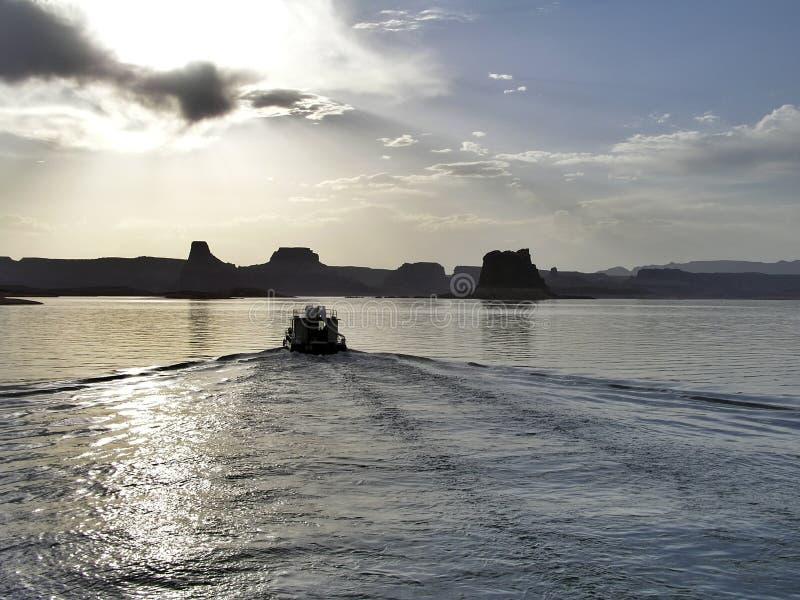 powell озера шлюпки стоковые фотографии rf