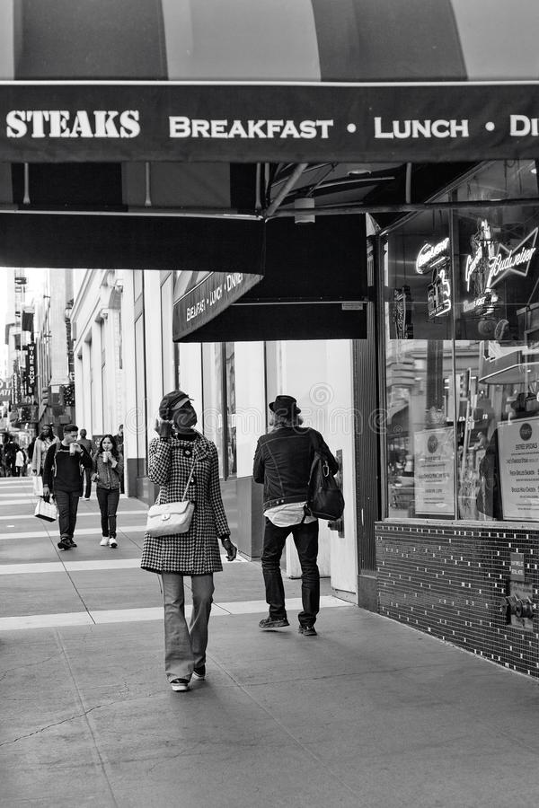 Powell gata, San Francisco, Förenta staterna royaltyfria foton