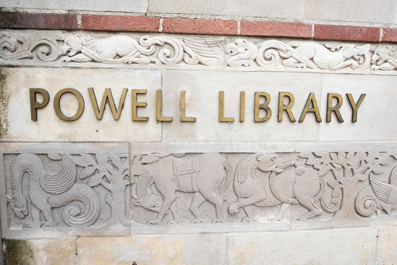 Powell Library à l'UCLA image stock