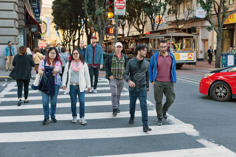 Powell-Straße, San Francisco, Vereinigte Staaten stockfoto