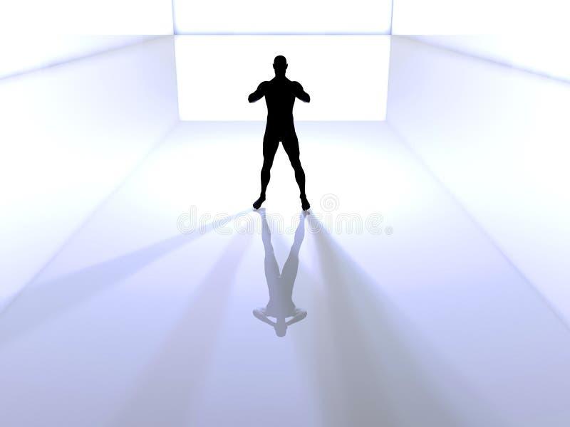 Download Power stock illustration. Illustration of sillhouette, glare - 450886