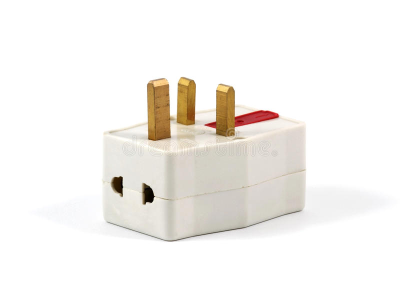 Power Adaptor. A Power Adaptor on White Background stock images