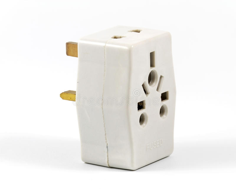 Power Adaptor. A Power Adaptor on White Background royalty free stock images
