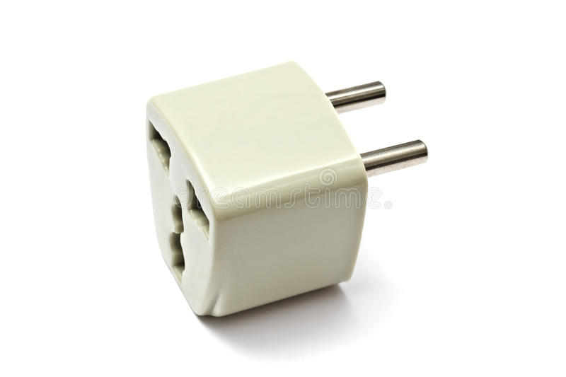 Power Adaptor. A Power Adaptor isolated on White Background stock photography