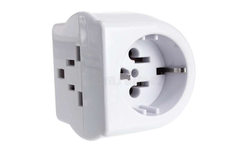 Power Adaptor. On White Background stock photography