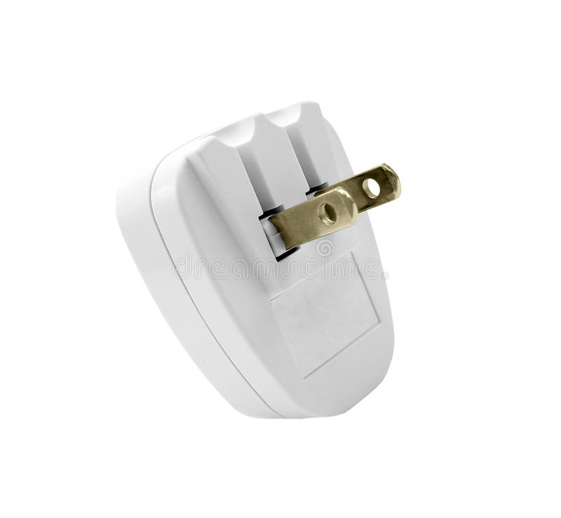 Power Adaptor. Isolated on white background stock images