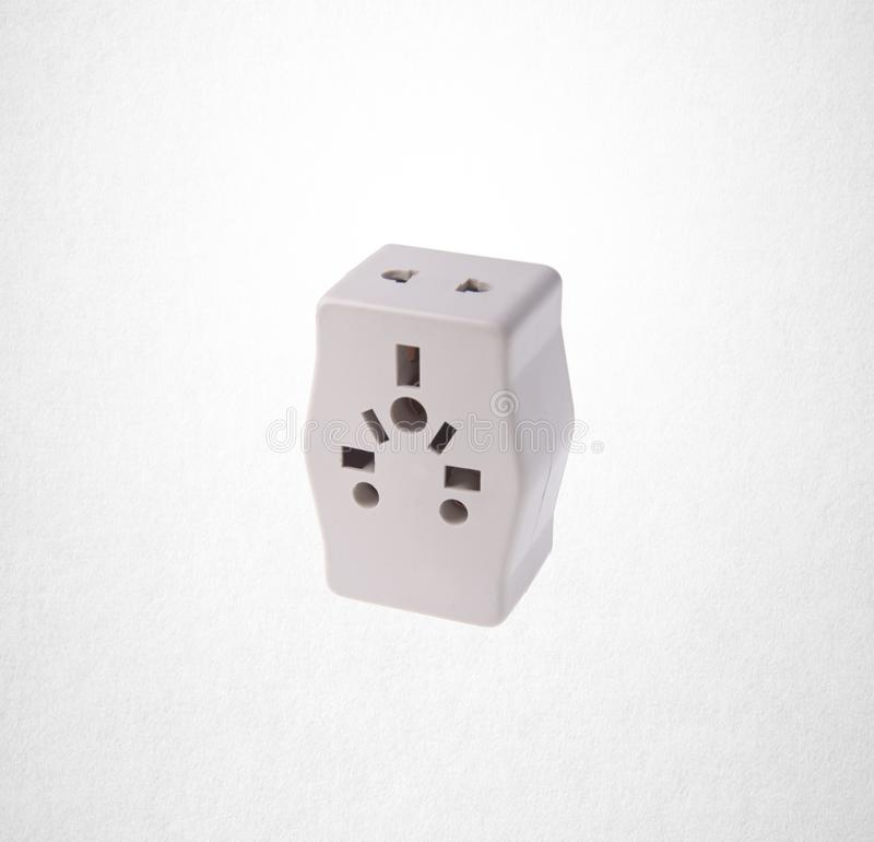 Power Adaptor or UK Power Adaptor on the background. Power Adaptor or UK Power Adaptor on the background royalty free stock image