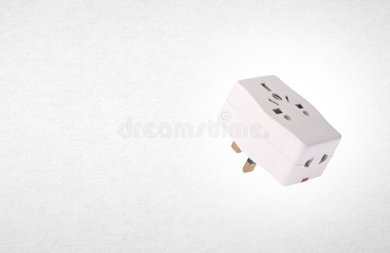 Power Adaptor or UK Power Adaptor on the background. Power Adaptor or UK Power Adaptor on the background royalty free stock photography