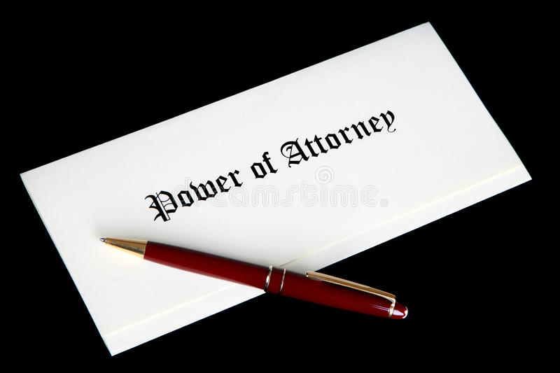 Download Power Of Attorney Legal Document Stock Photo - Image: 12661246