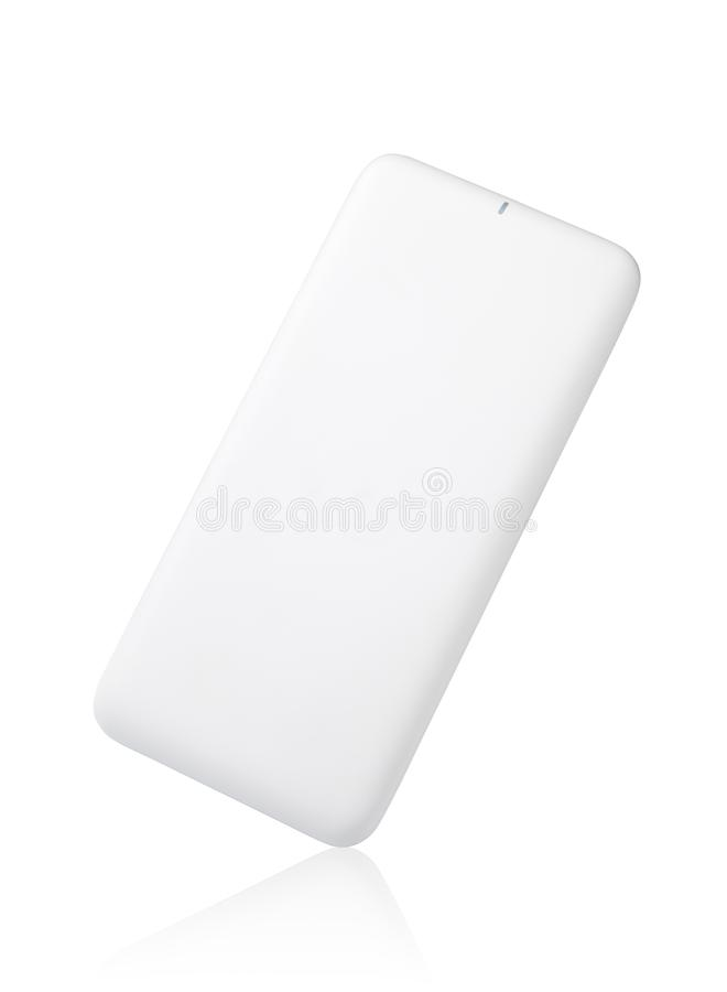 Power bank for charging mobile devices. Isolated on white background stock photos