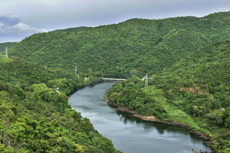 The Power of Bhumibol dam at Tak in Thailand. The Power of Bhumibol dam at Tak in Thailand Photo stock image