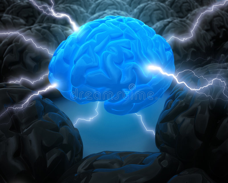 Download The Power Of Brain stock illustration. Image of neurons - 5065242