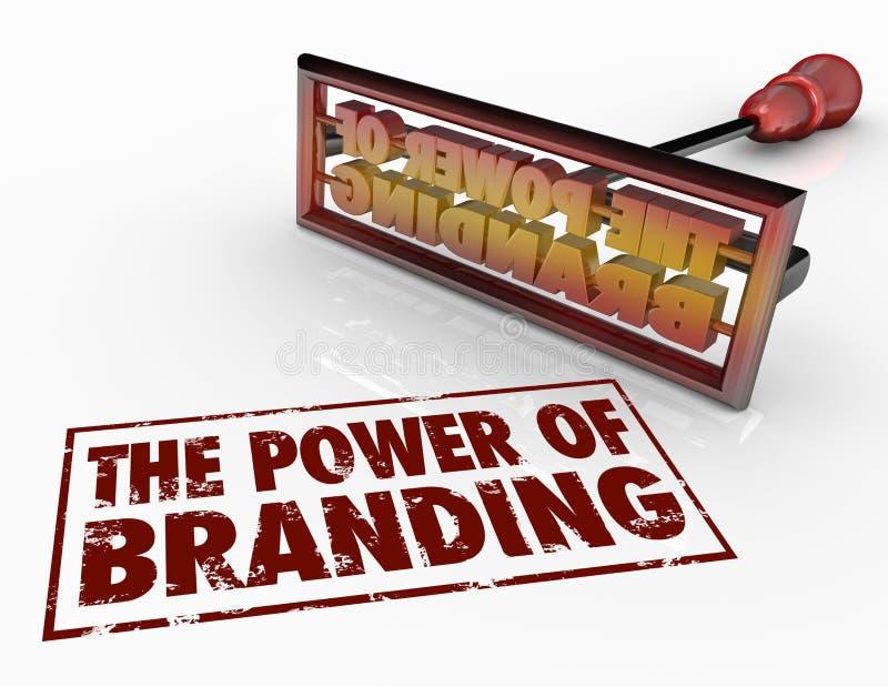 Power of Branding Iron Words Marketing Identity Trust vector illustration