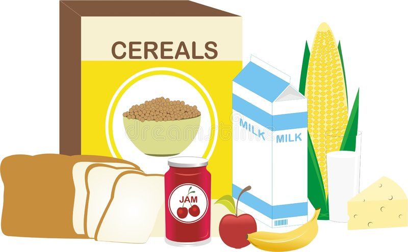 Power Breakfast vector illustration