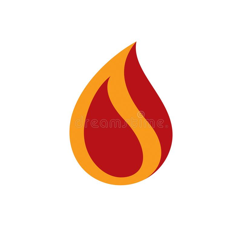 The power of burning fire, nature element vector illustration for use in petrol. And gas advertising stock illustration