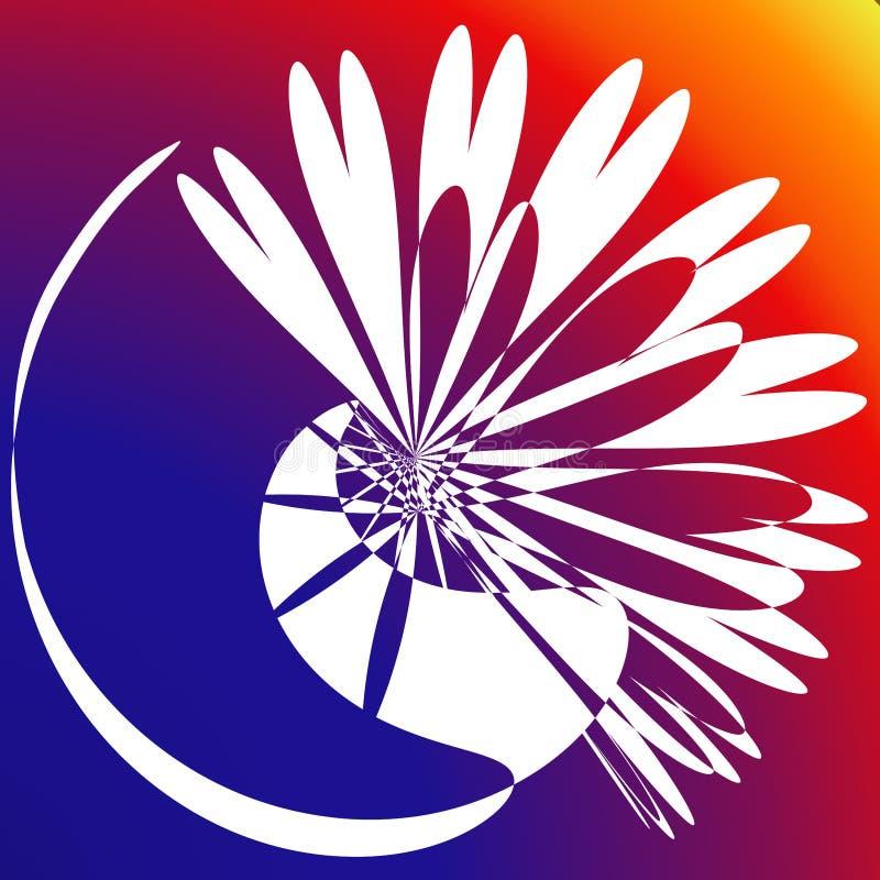 Power Burst Effect Flower Background vector illustration