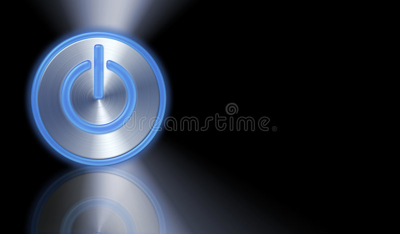Download Power Button stock illustration. Image of plastic, glass - 2134457