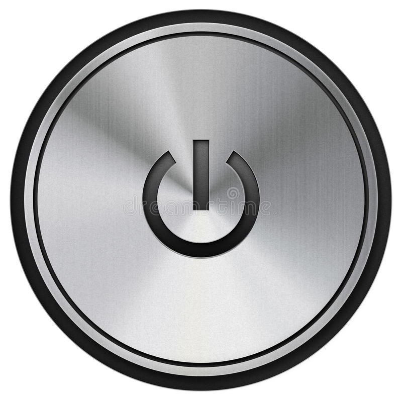 Power button stock illustration
