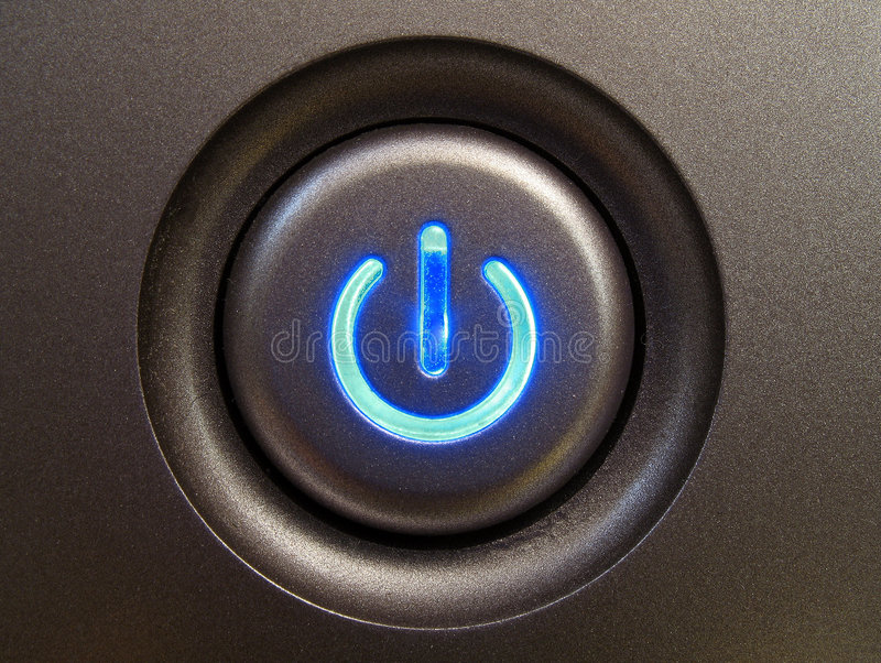 Power button. stock image
