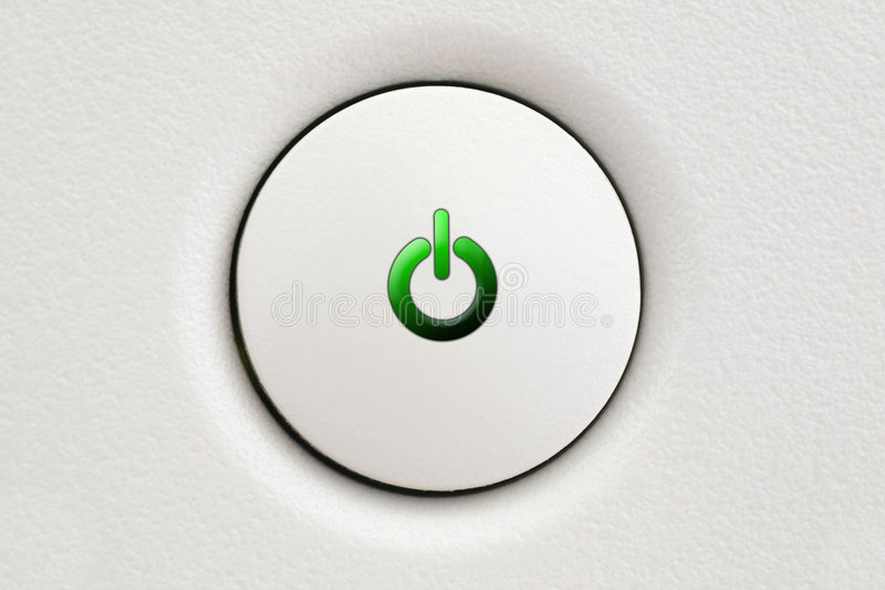 Power Button ON stock images