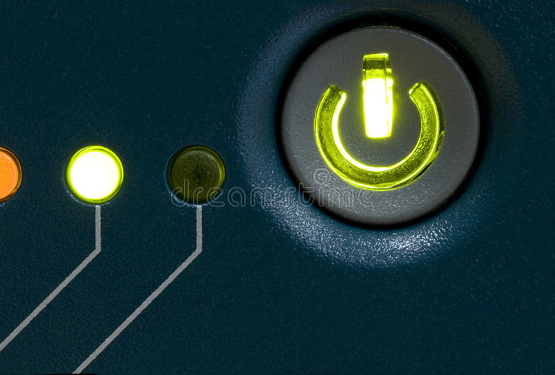 Power Button. Electrical Device with Power Button