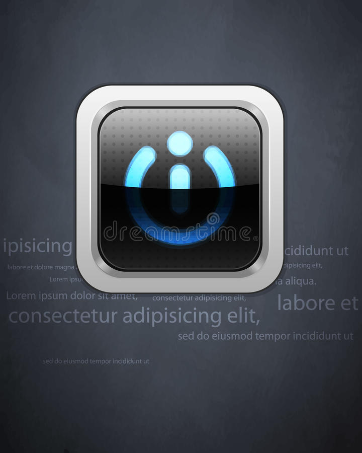 Download Power Button On The Gray Grunge Wall Royalty Free Stock Photo - Image: 21351225