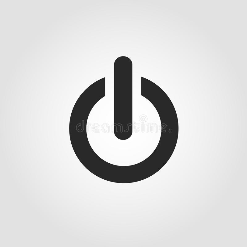Power button icon, flat design stock illustration