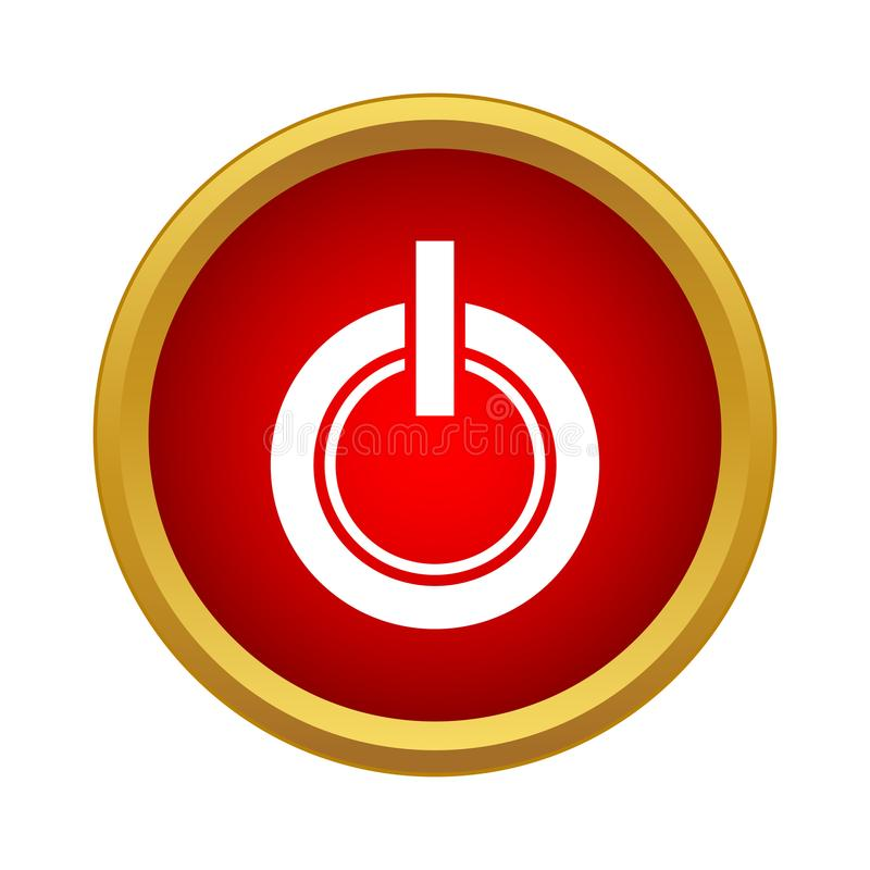 Power button icon in simple style stock illustration