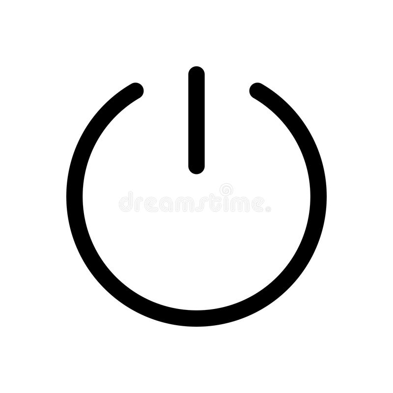Power Button Icon Symbol Of Start Or Turn On Outline Modern Design