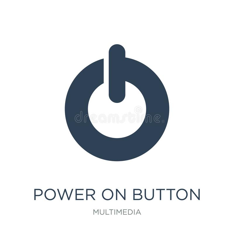 power on button icon in trendy design style. power on button icon isolated on white background. power on button vector icon simple stock illustration