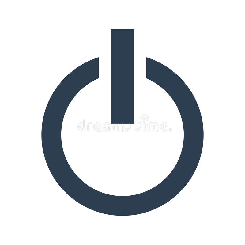 power button icon on white background stock illustration rh dreamstime com power button lockout fix power button lockout monitor