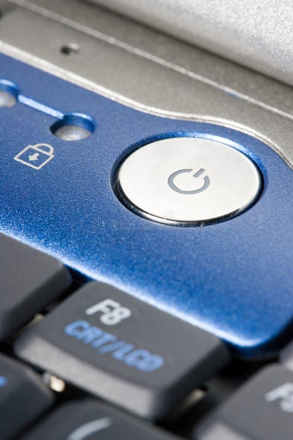 Power-Button of a laptop royalty free stock photos