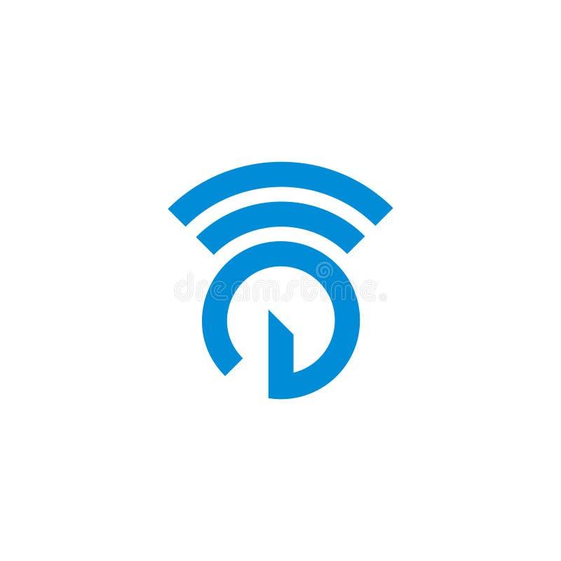 Power button simple signal technology symbol logo vector. Unique unusual design concept royalty free illustration