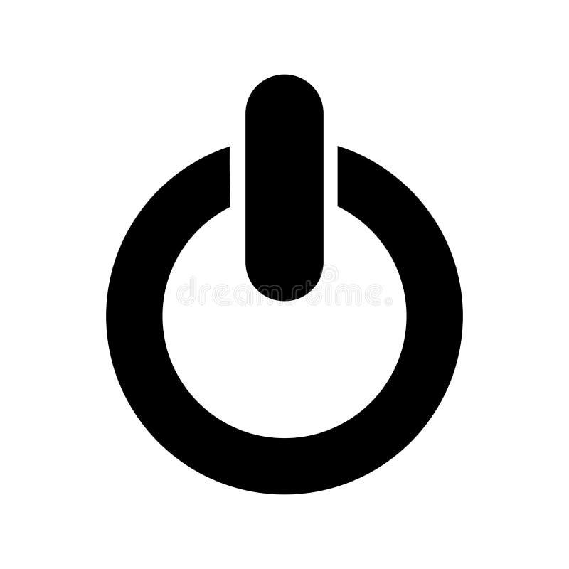 Power Button Symbol Isolated Icon Stock Illustration - Illustration ...
