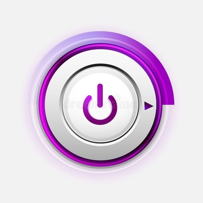 Power button technology logo, digital art techno concept, on off icon. Vector power button technology logo, digital art techno concept, on off icon royalty free illustration