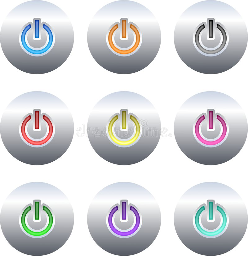 Power buttons stock illustration