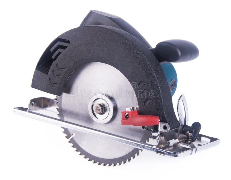 Power circle saw on the background royalty free stock photo