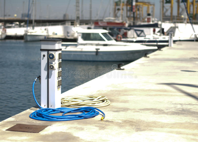 Download Power connector for yachts stock image. Image of ship - 26612937