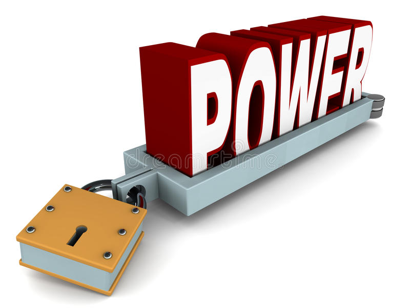Power In Control Stock Illustration