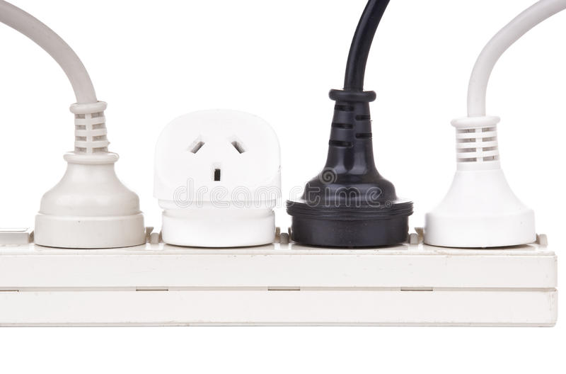 Power Cords Isolated royalty free stock image
