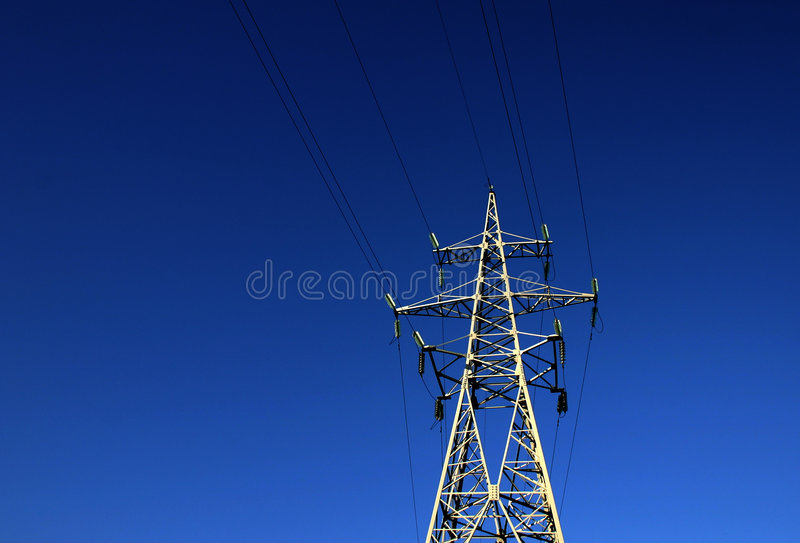 Download Power in dark stock photo. Image of power, blue, light, wire - 16908