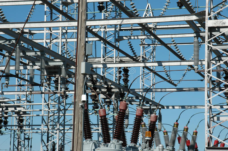 Power Distribution Site Royalty Free Stock Images