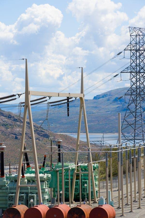 Power distribution substation